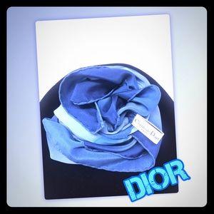100% Silk Christian Dior Scarf. Amazing Colors 💙